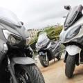 Comparative Yamaha X-Max 400, Piaggio X10 350 and Kymco Xciting 400i
