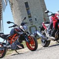 Comparative motorcycles Honda CB500F vs KTM Duke 390: Nice, small roadsters A2!