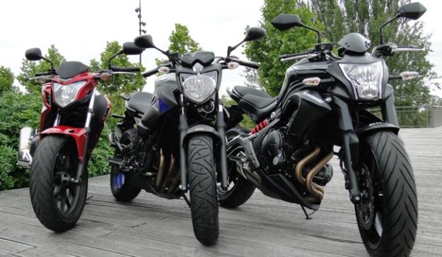 Honda CB500F, Kawasaki er-6n or Yamaha XJ6: which bike A2 choose?