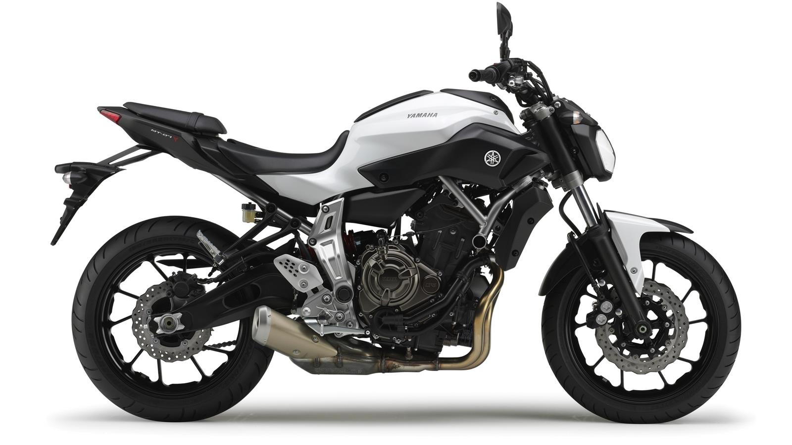 Yamaha-MT-07 Competition White Wallpaper hd  (1600 × 900)