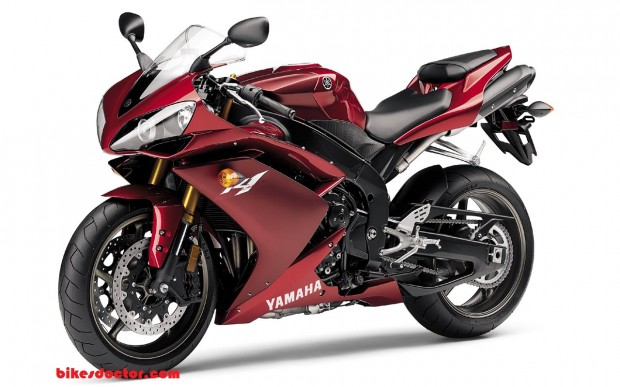 Yamaha R1 Dark Red HD Wallpaper (1280 × 800)