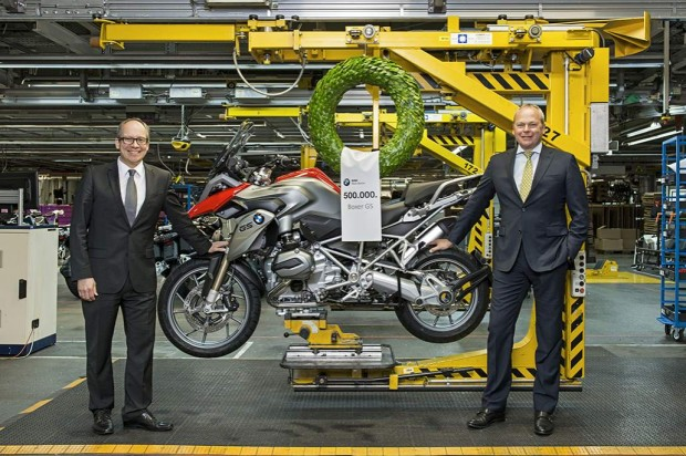 BMW GS Motorrad factory celebrates prodcution 500000th Boxer powered motorcycle Wallpaper (1030x686)