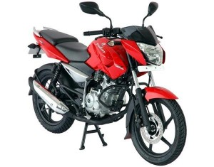 Bajaj Pulsar 200NS in Red and Black dual-tone paint finish