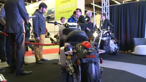 Lito's SORA Electric at Motorcycle show (620 × 349)