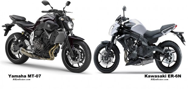 Yamaha MT-07 vs Kawasaki ER-6N