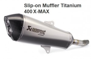 Slip-on muffler titanium  image