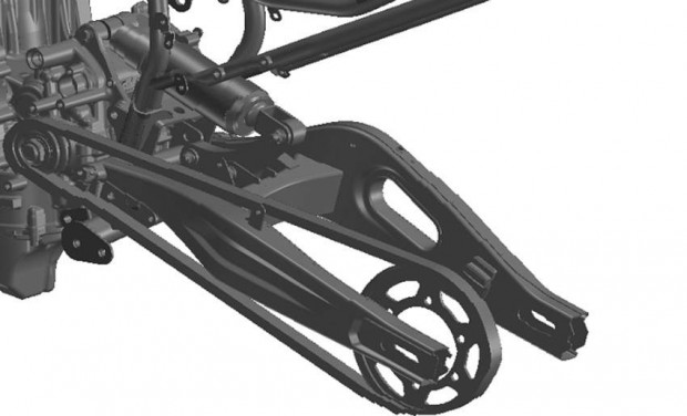 Yamaha MT07 2014 Sport Touring Rear suspension with link system image