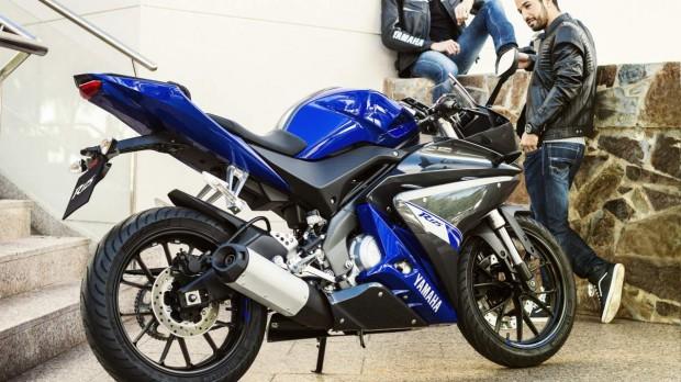 Yamaha YZF-R125 Blue Static 2014 wallpaper (1275 × 717)