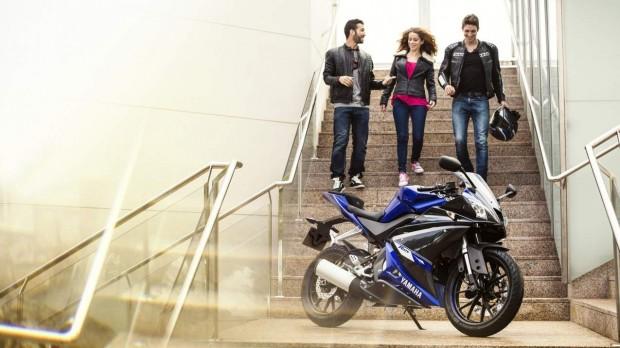 Yamaha YZF-R125 EU Race  2014 Blue Static wallpaper (1275 × 717)