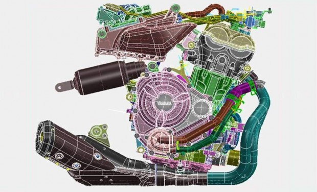 yamaha 2014 MT07 Sport Touring Next generation engine image
