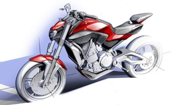 yamaha MT07 2014 Sport Touring Sketch