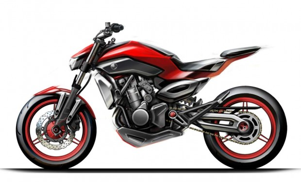 yamaha MT07 Sport Touring side Sketch