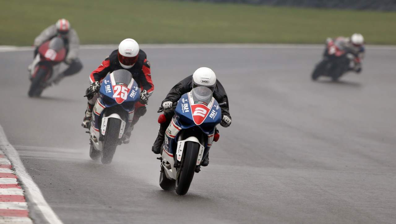 P&H Motorcycle in ducati cup Brands Hatch during raining