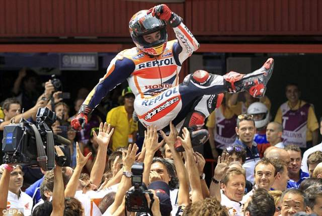 Marquez in seventh heaven