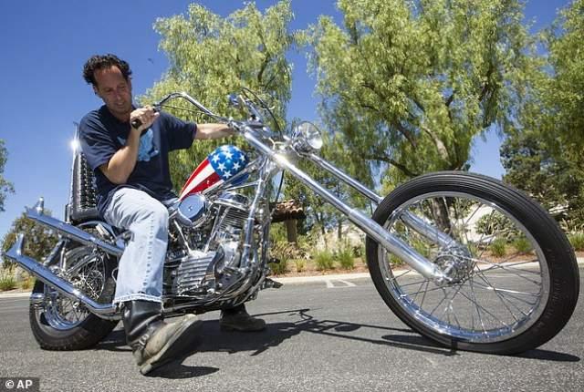 Harley Captain America on Easy Rider