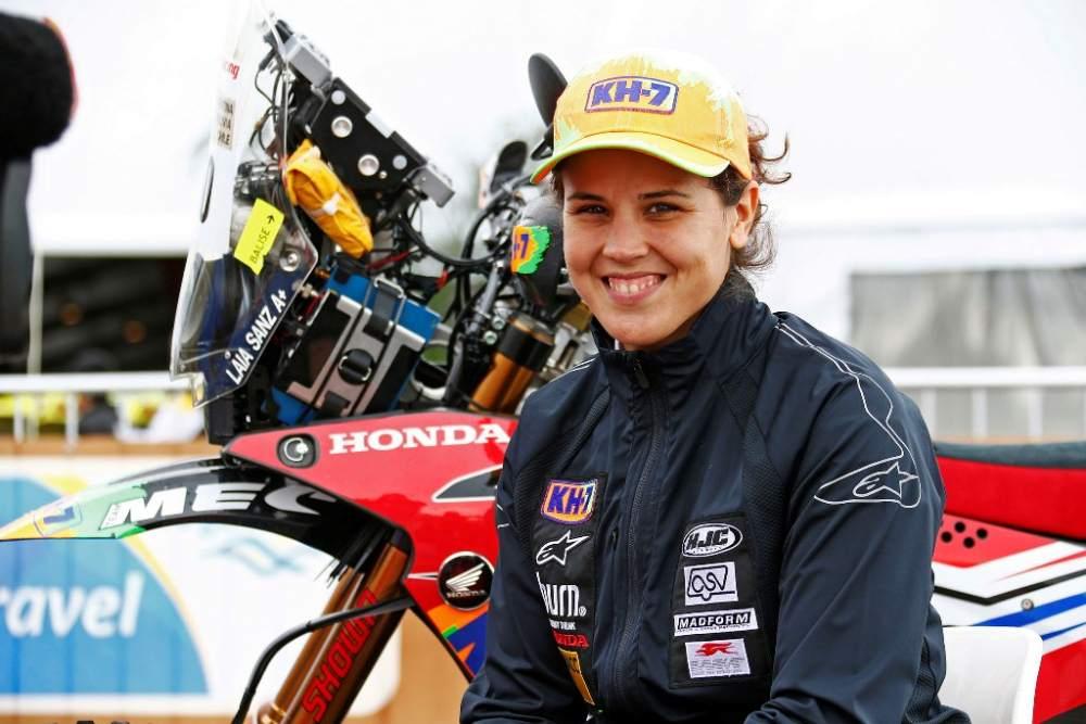 Laia Sanz HRC Honda Rider in the Dakar