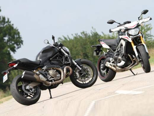 Ducati Monster 821 vs Yamaha MT-09 images,compare Ducati Monster 821 vs Yamaha MT-09,yamaha mt09,ducati 821 monster,