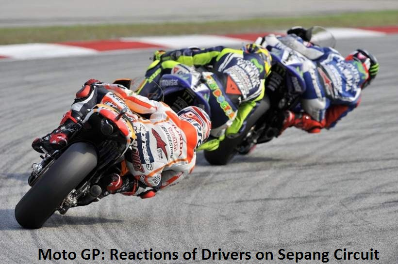 Moto GP: Reactions of Drivers on Sepang Circuit