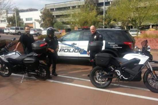 Burbank Police Department adopts Zero DSP Motorcycle 2015