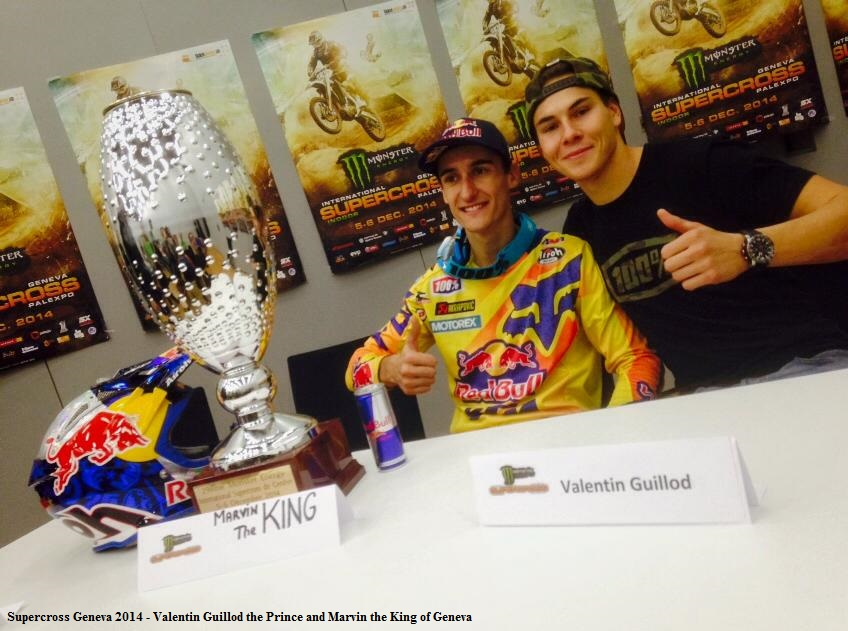 Supercross Geneva 2014 - Valentin Guillod the Prince and Marvin the King of Geneva