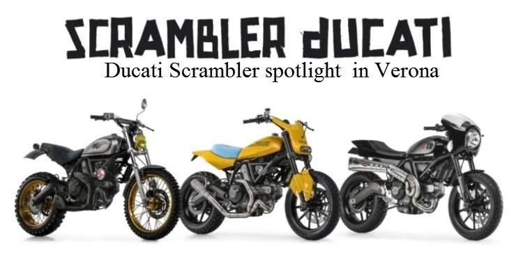 Ducati Scrambler spotlight this weekend in Verona