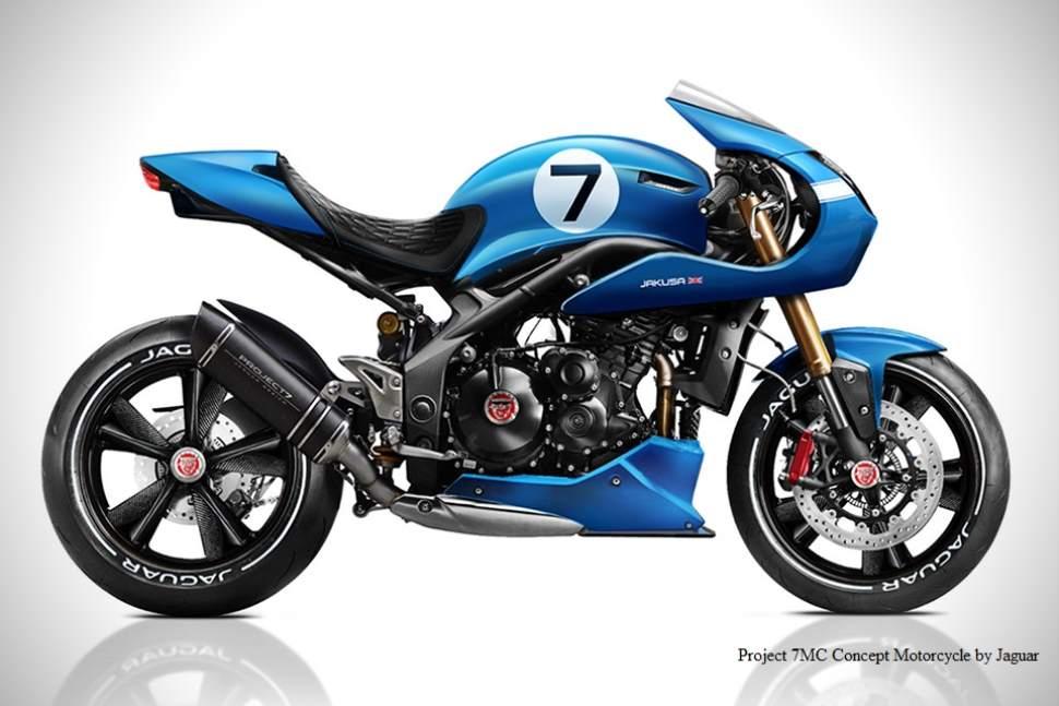 Project 7MC Concept Motorcycle by Jaguar