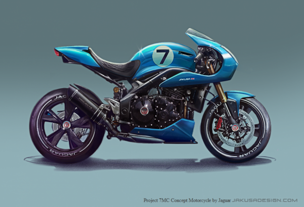 Project 7MC Concept Motorcycle by Jaguar