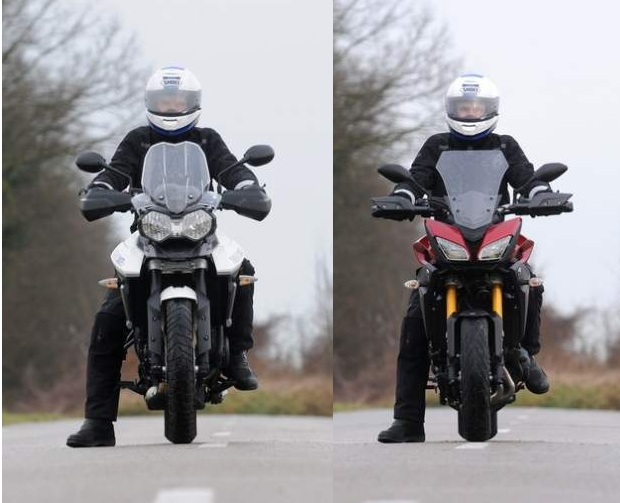 Comparison: Yamaha MT-09 Tracer vs Triumph 800 Tiger XRx