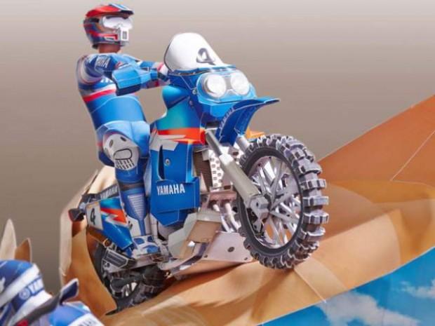 Yamaha XTZ850R origami and the Dakar YZ450F at Dakar Rally