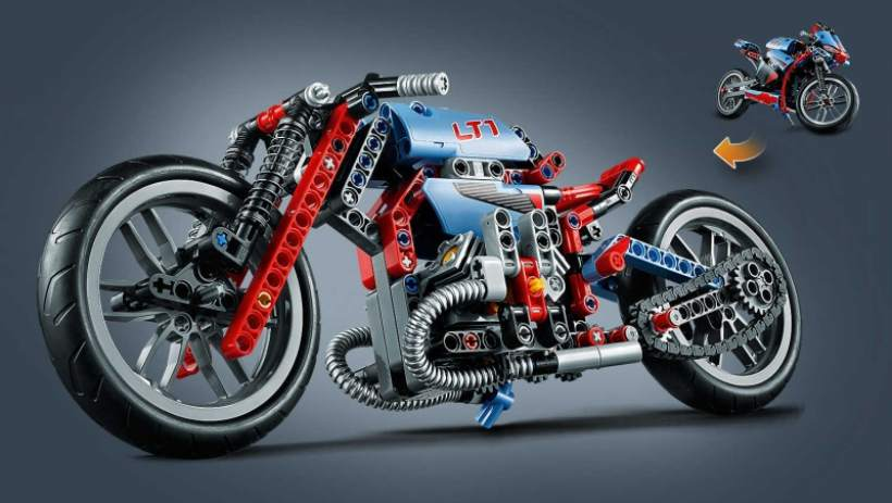 Lego Technic 42036 a Big Kids Motorcycle for Urban
