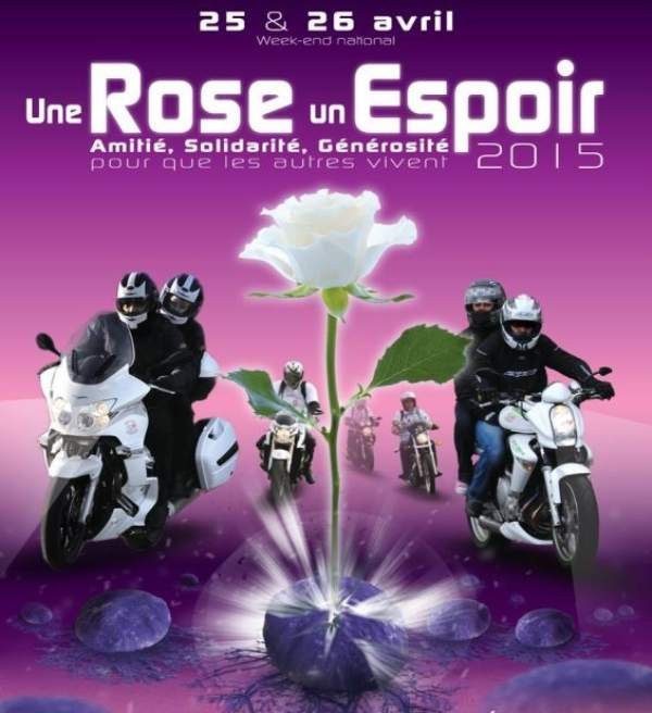 Une Rose Une Espoir French Day,Bikers riding again cancer