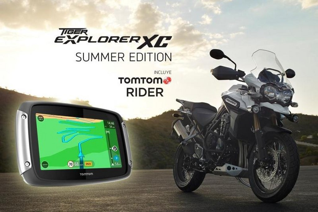 triumph tiger explorer summer edition with tom tom