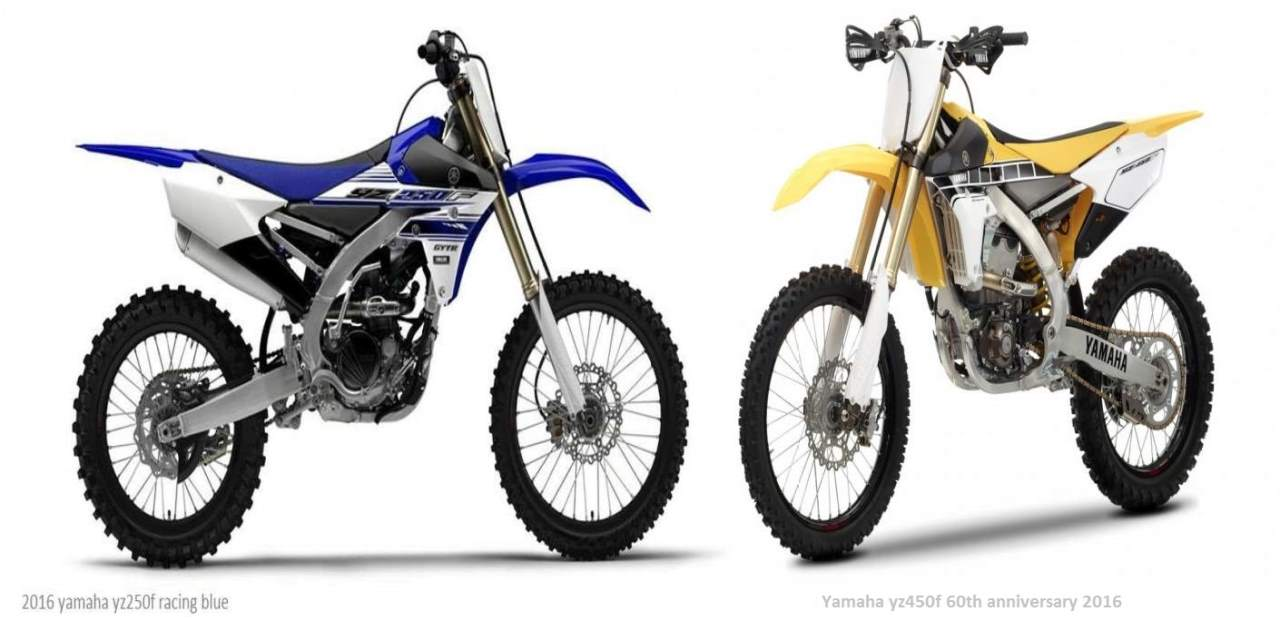 New Yamaha YZ450F & YZ250F 2016 the 60th Anniversary Limited edition Version YAMAHA