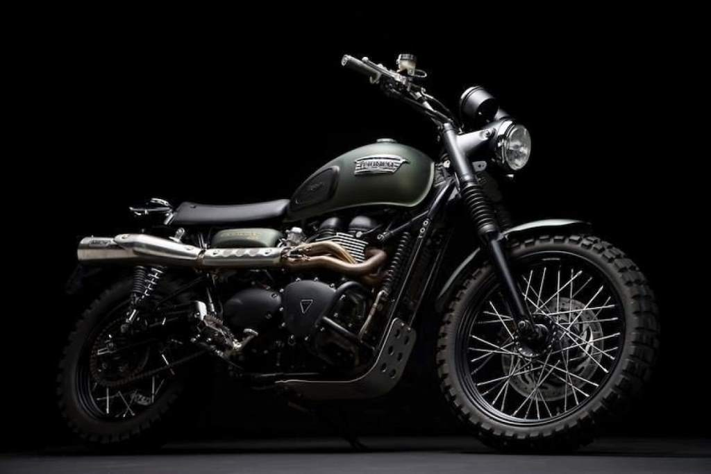 "Triumph Scrambler ""Jurassic World"" Auction 2015"