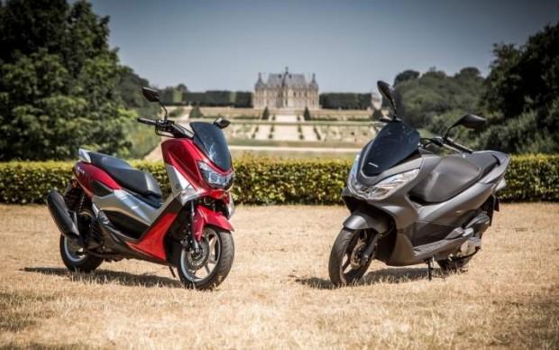 Yamaha Duel Nmax vs Honda PCX Reviews 2015