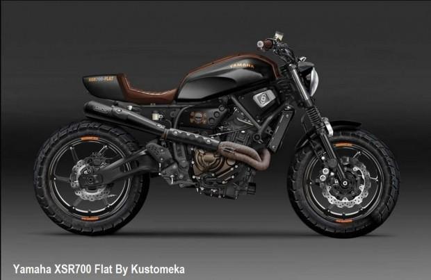 Yamaha XSR700 Flat by Kustomeka