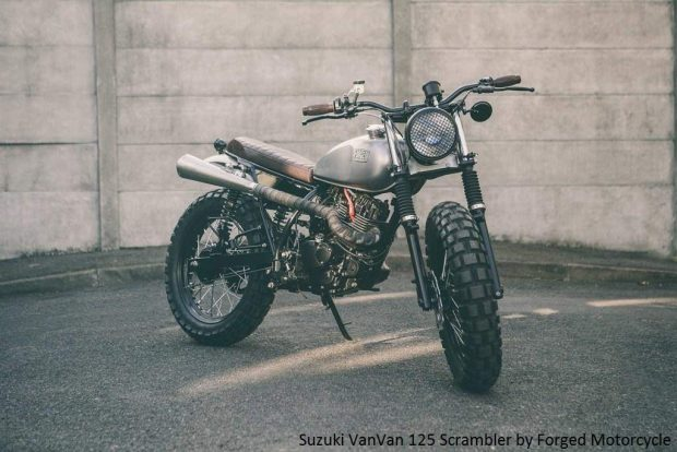 New Suzuki Van Van 125 Scrambler by Forged Motorcycle