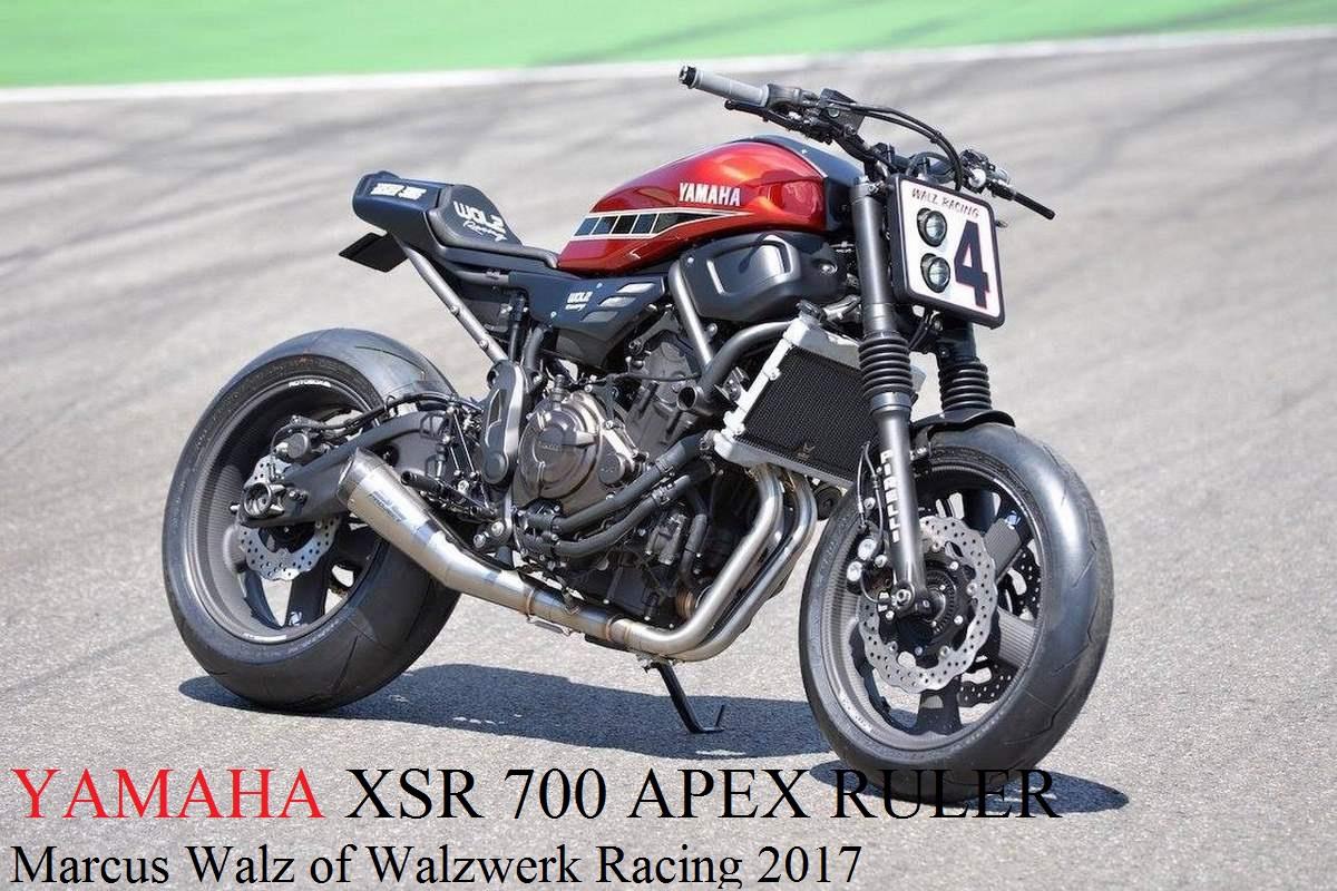 Yamaha XSR 700 Apex Ruler Walzwerk Racing Bike 2017